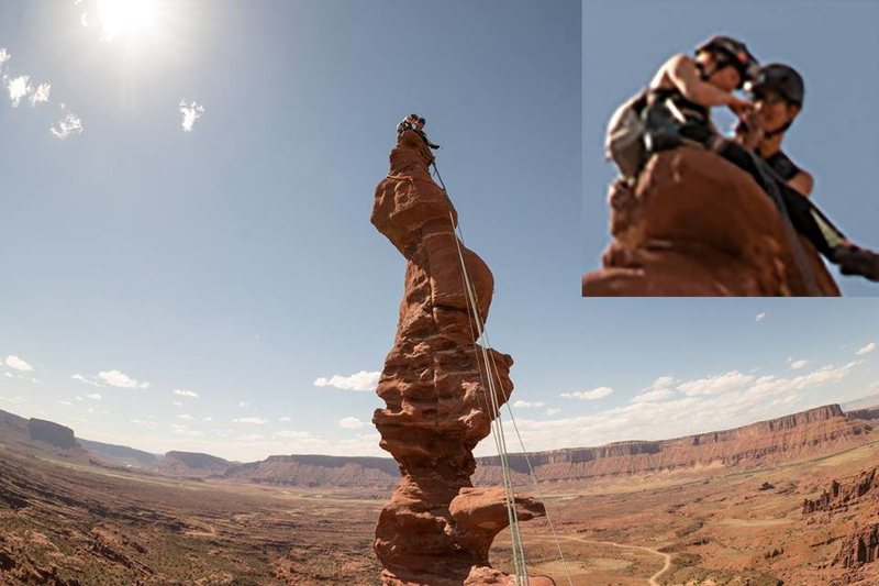 Rock Climbing Photo: proposing to my wife on top of ancient art!