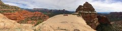 Rock Climbing Photo: Panorama looking south from the big flat summit of...
