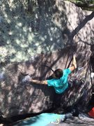 Rock Climbing Photo: In the business of Purple Shadow.  Erin Ayla photo...