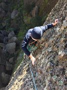 Rock Climbing Photo: Approaching the second pitch anchor.