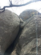 Rock Climbing Photo: Bharath Pereira on the sport route to the right of...