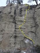 Rock Climbing Photo: Tenacious topo