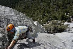 Rock Climbing Photo: B. Anamuro on the $$$. 4th class to the top was sc...