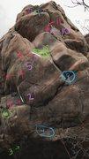Rock Climbing Photo: One way to do Golemoly.