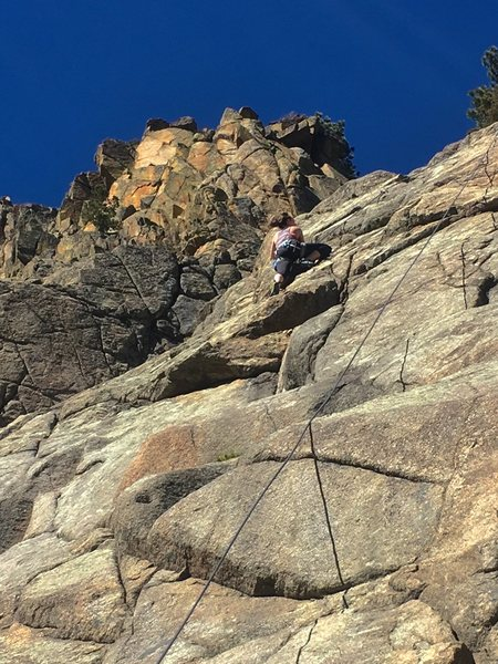 Over the crux.
