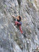 Rock Climbing Photo: Kelly Douglas on Eire Girl, belayed by Darren Odge...