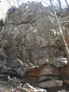 Rock Climbing Photo: There are a few route possibilities on this wall. ...