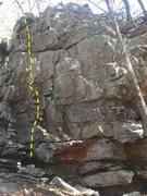 Rock Climbing Photo: Start left of the vertical crack.