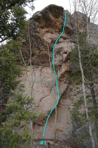 Rock Climbing Photo: Topo of route #1.