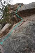 Rock Climbing Photo: Topo of route #2.