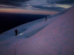 Rock Climbing Photo: Sunrise on the Emmons Aug 2014