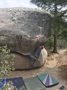 Rock Climbing Photo: To the slopes on Charles in Charge V5