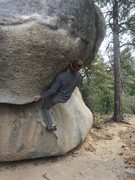 Rock Climbing Photo: Start On Gun Shy V5, start on two underclings. Rig...