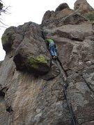 Rock Climbing Photo: Fun, low-angle climbing
