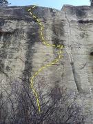 Rock Climbing Photo: BBD topo