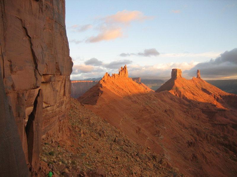 Rock Climbing Photo: Not a bad view...