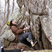 Rock Climbing Photo: Bubble Wrap (V6) | Photo: Joe Rudisill