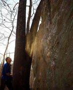 Rock Climbing Photo: Garrett eyeing up one last problem as the setting ...