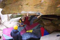 Rock Climbing Photo: Working Body Karate (V8) | Photo: Joe Rudisill