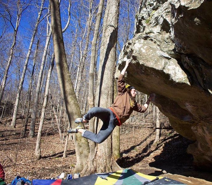 Rock Climbing Photo: Open Gates (V5) | Photo: Joe Rudisill