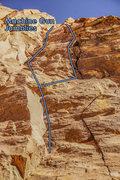 Rock Climbing Photo: Machine Gun Jumblies, on the left, the top two-thi...