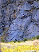 Rock Climbing Photo: Climbers on Schoolhouse Rock (5.8), Riverside Quar...