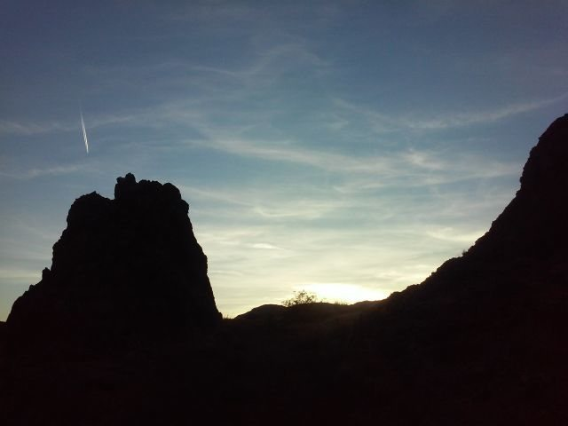 Rock Climbing Photo: Last light, High Desert