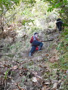 Rock Climbing Photo: Lutti & Donette headed toward the steeper sections...
