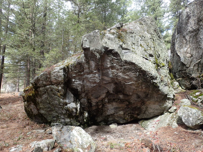 "Rock Climbing Photo: Overhanging east face of Boulder G - aka ""Biv..."