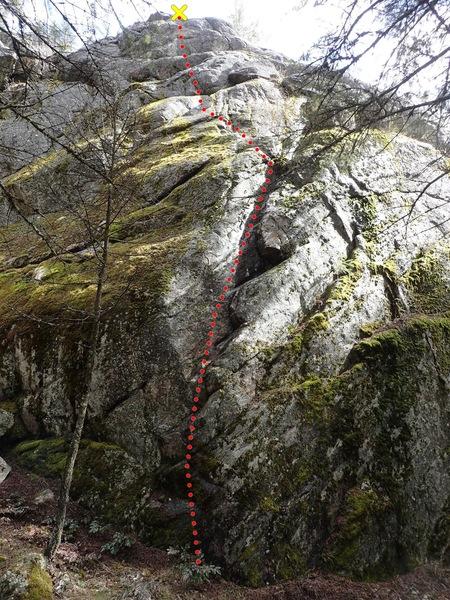 Rock Climbing Photo: RNLR topo