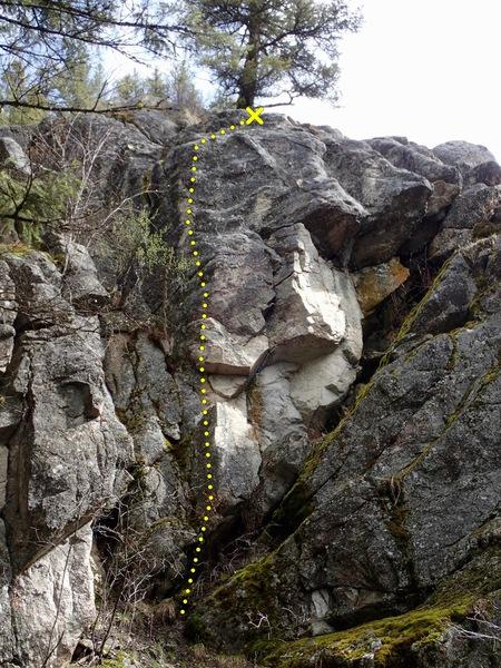 Rock Climbing Photo: Little Crazy topo