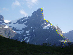 Rock Climbing Photo: Basic route The lower 3/4th's - to 7/8th's is hiki...