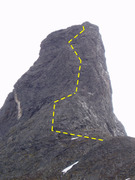 Rock Climbing Photo: ROUGHLY the line of the route