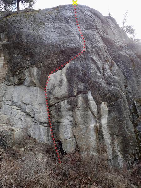 Rock Climbing Photo: The Grin Reaper topo
