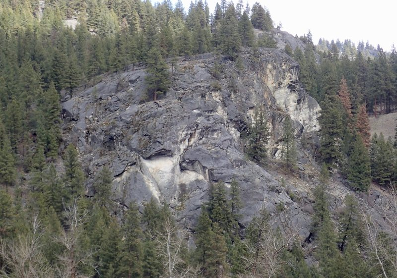 Rock Climbing Photo: Viper Head from across the river
