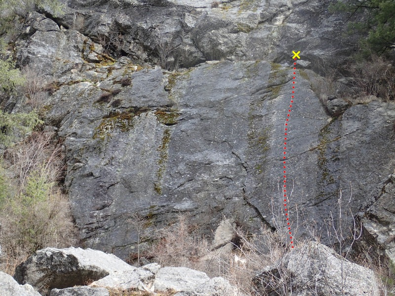 Rock Climbing Photo: Fight or Flight topo