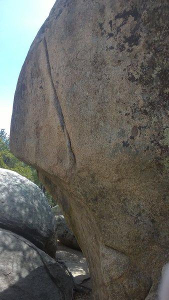 Rock Climbing Photo: Anchor Seam, Climb the line. Hard top out