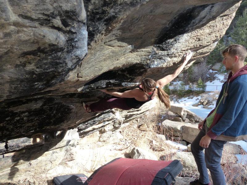 Rock Climbing Photo: Smoke.
