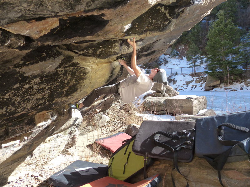 Rock Climbing Photo: Garret gets it done.