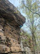 Rock Climbing Photo: Jon pulls the roof on Ivory Coast