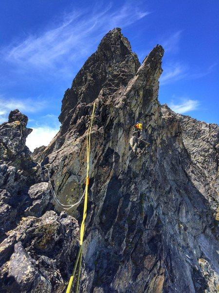 Rock Climbing Photo: Pretty cool setting.