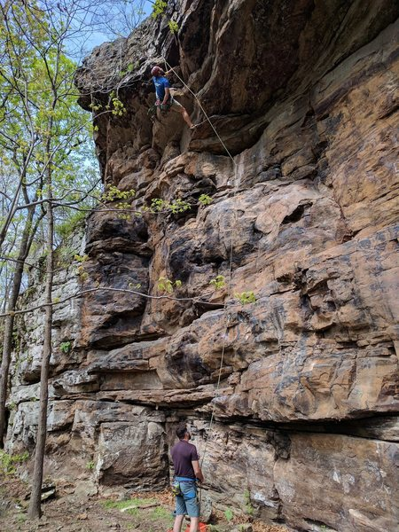 Rock Climbing Photo: Good overview of route