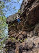 Rock Climbing Photo: I am hoping there is something worth grabbing on t...