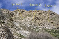 Rock Climbing Photo: Kamari Area Topo Walls 1-3 of 5