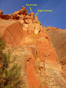 Rock Climbing Photo: Looking up the Airborne Sage from the base.