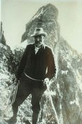 Rock Climbing Photo: Slingsby with Storen behind (Photo on wall of Turt...