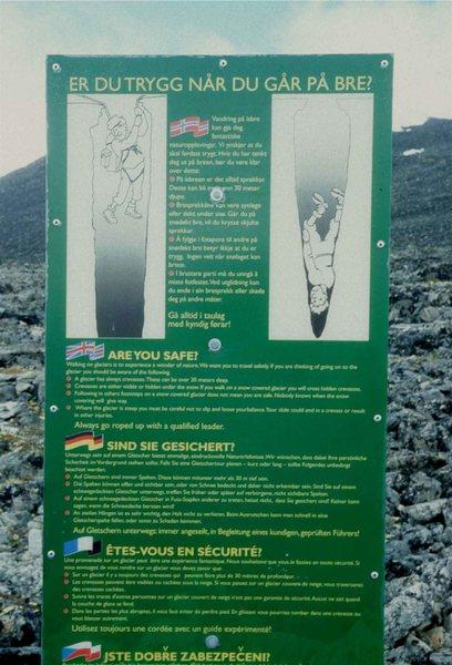 Rock Climbing Photo: Warning Sign at Parking Spot, end of road