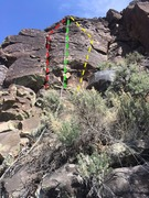 Rock Climbing Photo: Since this is the smaller of a couple wide bands, ...