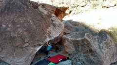 Rock Climbing Photo: Bryan slapping sloppers