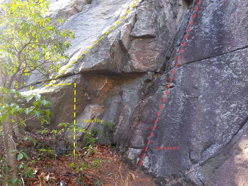 "Rock Climbing Photo: Start of ""Belly Flop"""